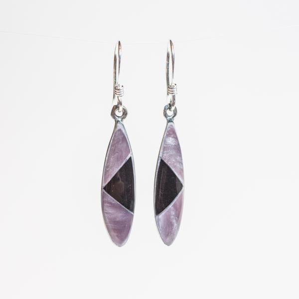 Elena Earrings - Lilac + Onyx