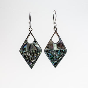Abalone Diamond Earrings