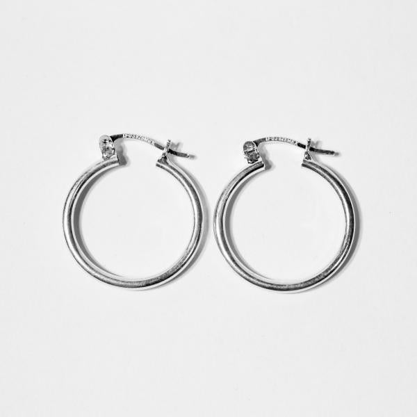 Sterling Silver Closed Hoops