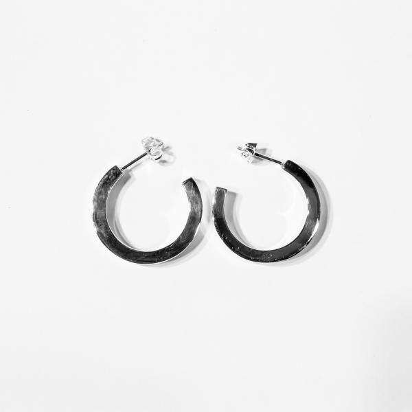 Thick Sterling Silver Hoops