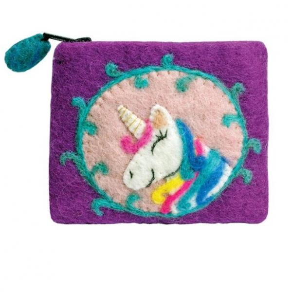 Unicorn Felted Coinpurse