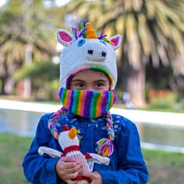 Unicorn Children's Hat with Mask
