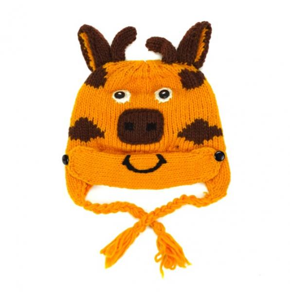 Giraffe Children's Hat with Mask