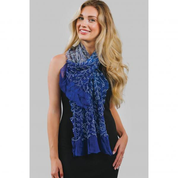 Tejal Blue Shaded Silk Scarf
