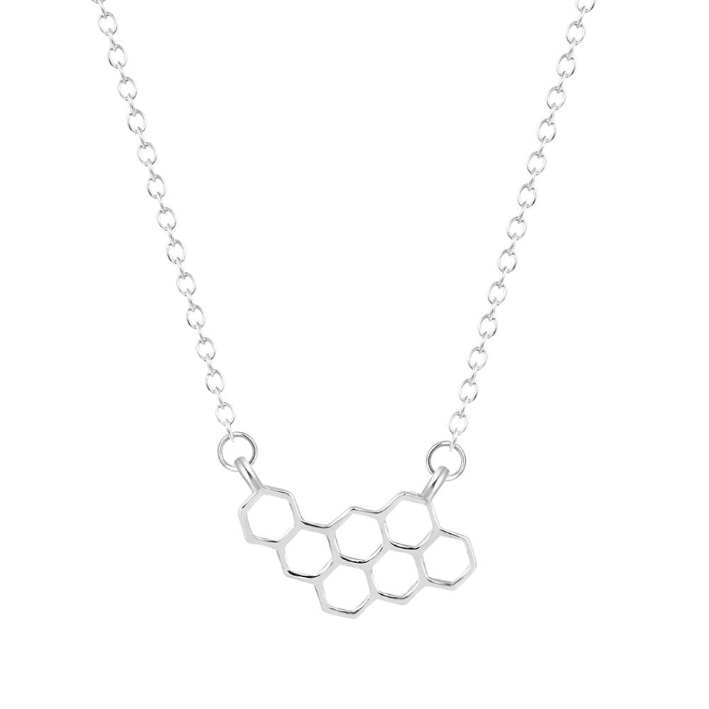 Save Our Bees Honeycomb Necklace