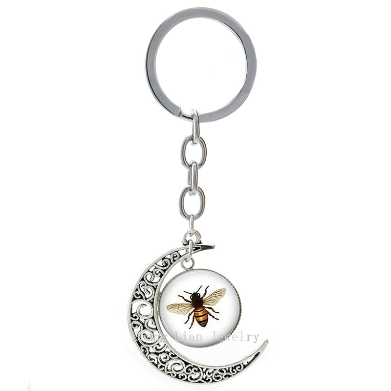 Bee Moon Keychain
