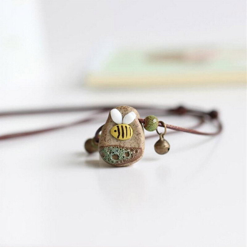 Stone Bee Necklace