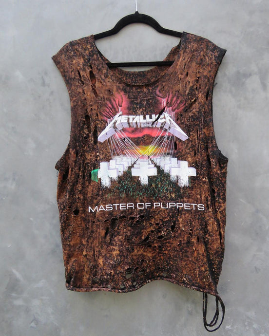 Metallica Distressed Vintage Muscle Tank
