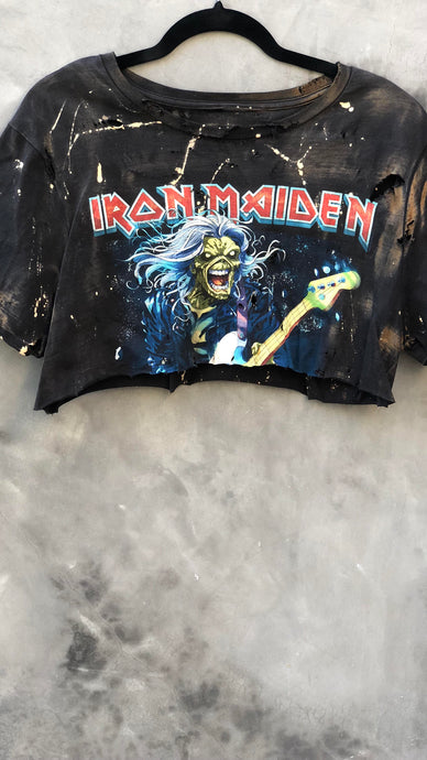 Exclusive Iron Maiden 'Sunburnt' Crop Top