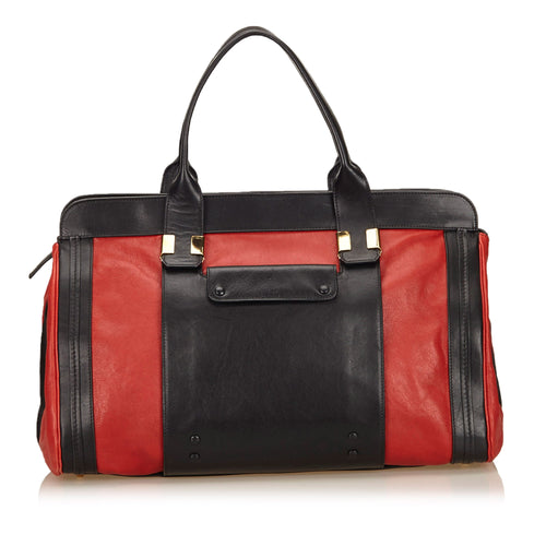 Chloé Black/Red Leather Alice satchel