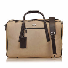Gucci Canvas Brown Duffle Bag - Reluxed Luxury