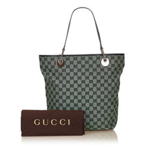 Gucci Guccissima Jacquard Green Tote - Reluxed Luxury