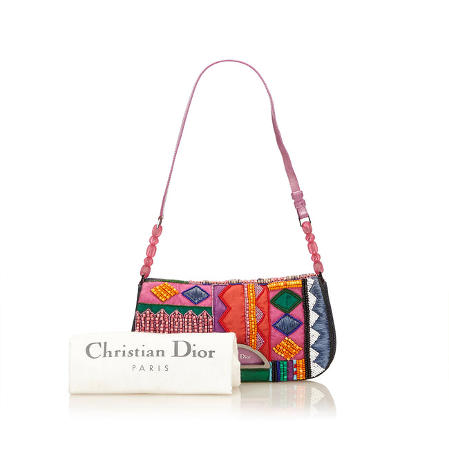 Christian Dior Beaded Denim Malice Shoulder bag - Reluxed Luxury