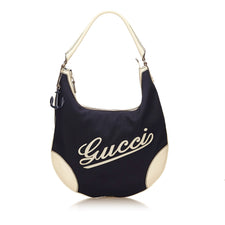 Vintage Gucci Nylon Black Old school handbag - Reluxed Luxury