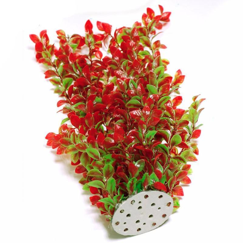plastic fish tank grass - Christmas Aquarium Decorations