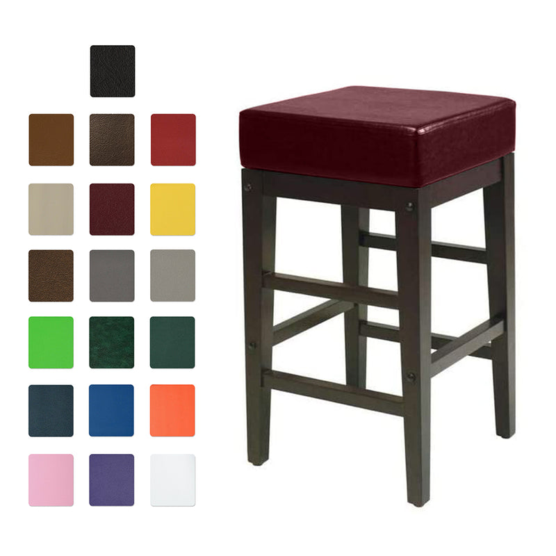 Square Vinyl Bar Stool Covers