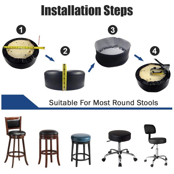 Vinyl Bar Stool Replacement Covers