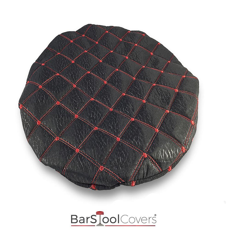 Black and Red Cloth Bar Stool Protector Cover