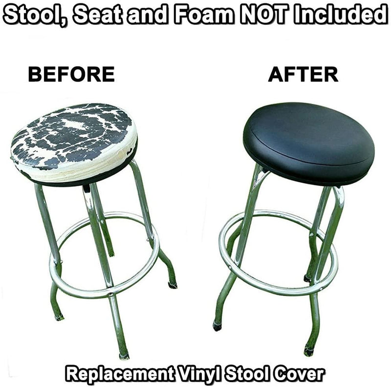 Ocean Blue Vinyl Bar Stool Cover Staple On Replacement