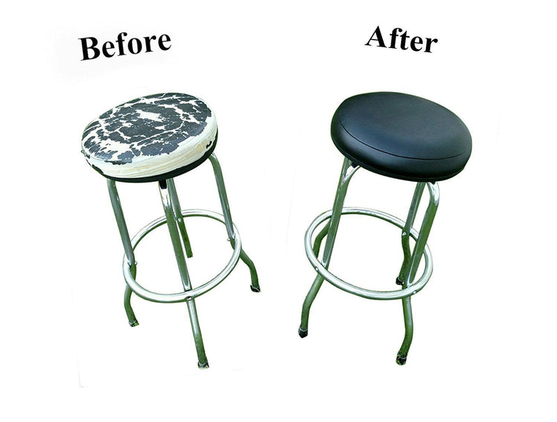 Orange Vinyl Replacement Bar Stool Cover