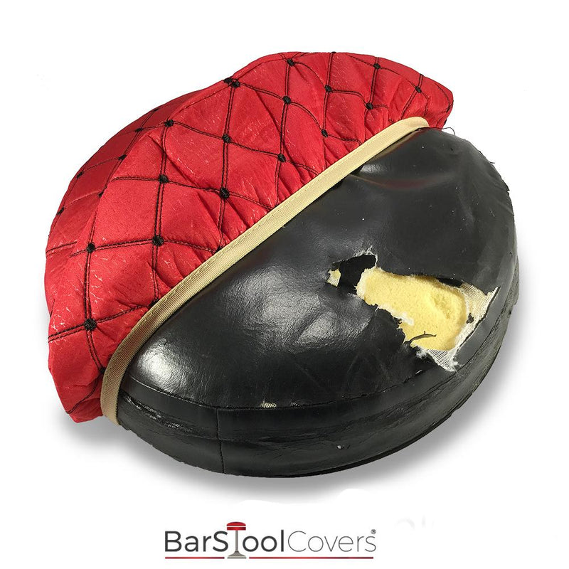 Red and Black Cloth Bar Stool Protector Cover