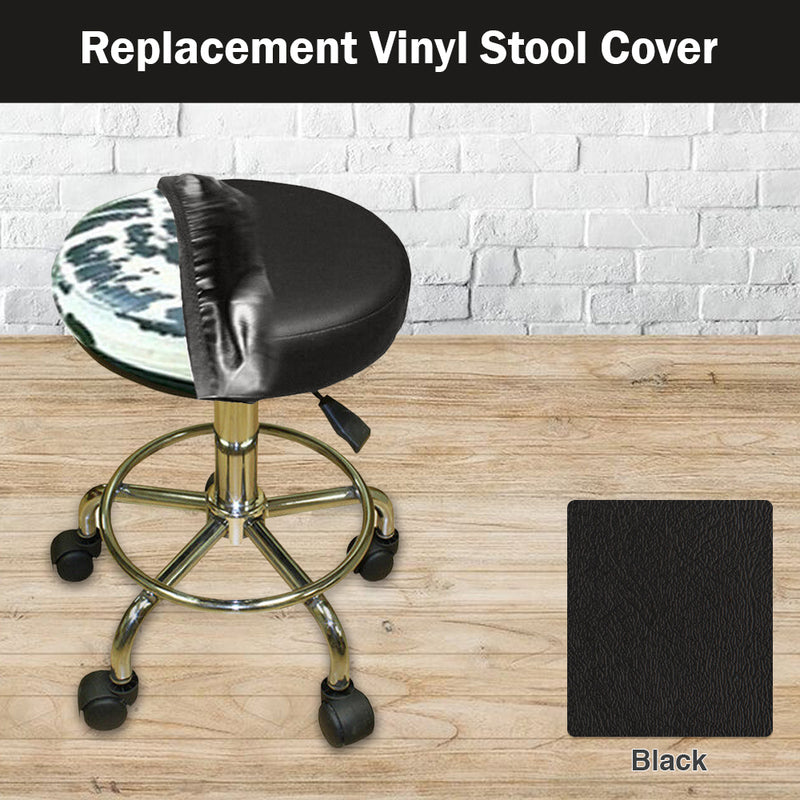 Black Vinyl Bar Stool Replacement Cover