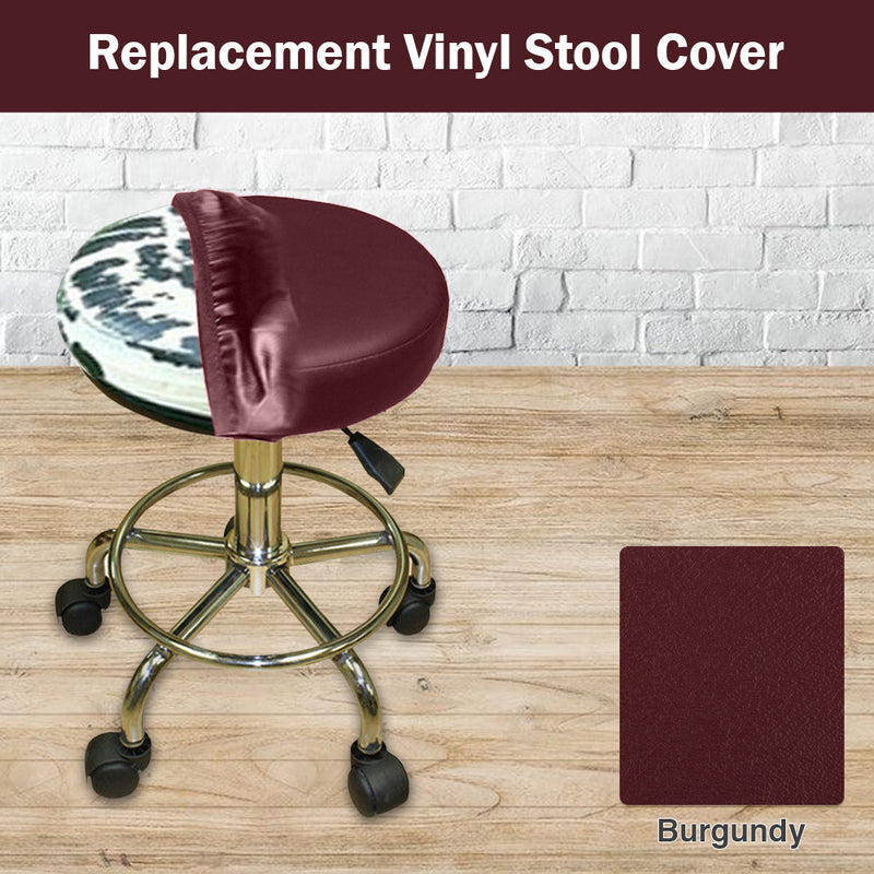 Burgundy Vinyl Bar Stool Cover Staple On Replacement
