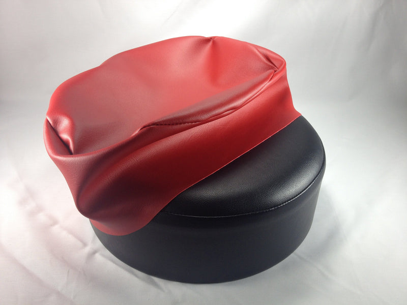 Red Vinyl Replacement Bar Stool Cover