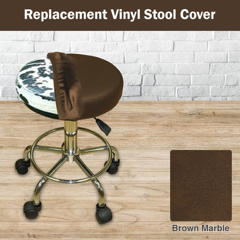 Brown Marble Vinyl Bar Stool Cover Staple On Replacement