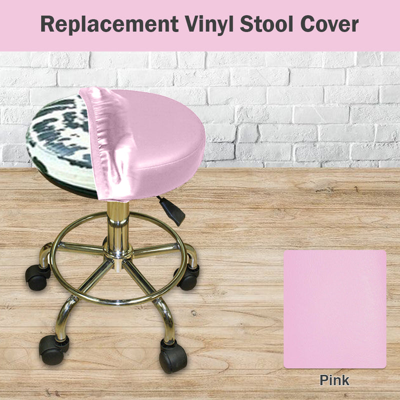Pink Vinyl Replacement Staple On Bar Stool Cover