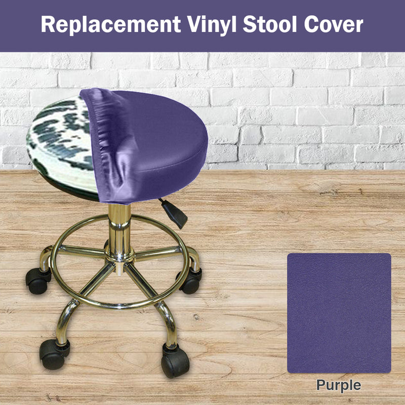 Purple Elastic Vinyl Slip On Stool Cover