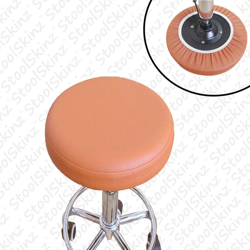 Terra Cotta Vinyl Bar Stool Cover Elastic Slip On Cover