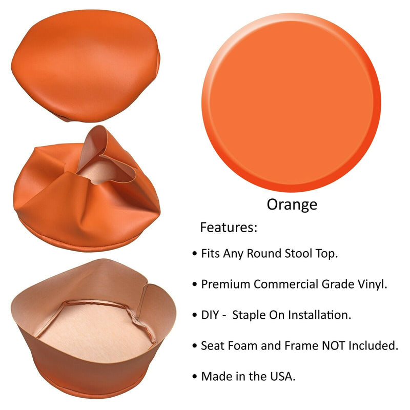 Orange Vinyl Bar Stool Cover Replacement