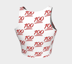 *NEW* 100 Emoji Crop Top - Iron Queen