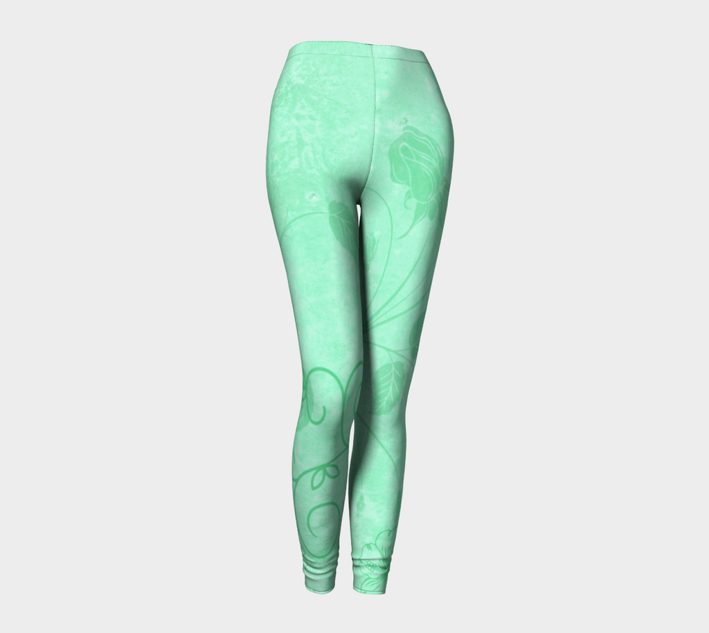 Neon Floral Leggings - Iron Queen