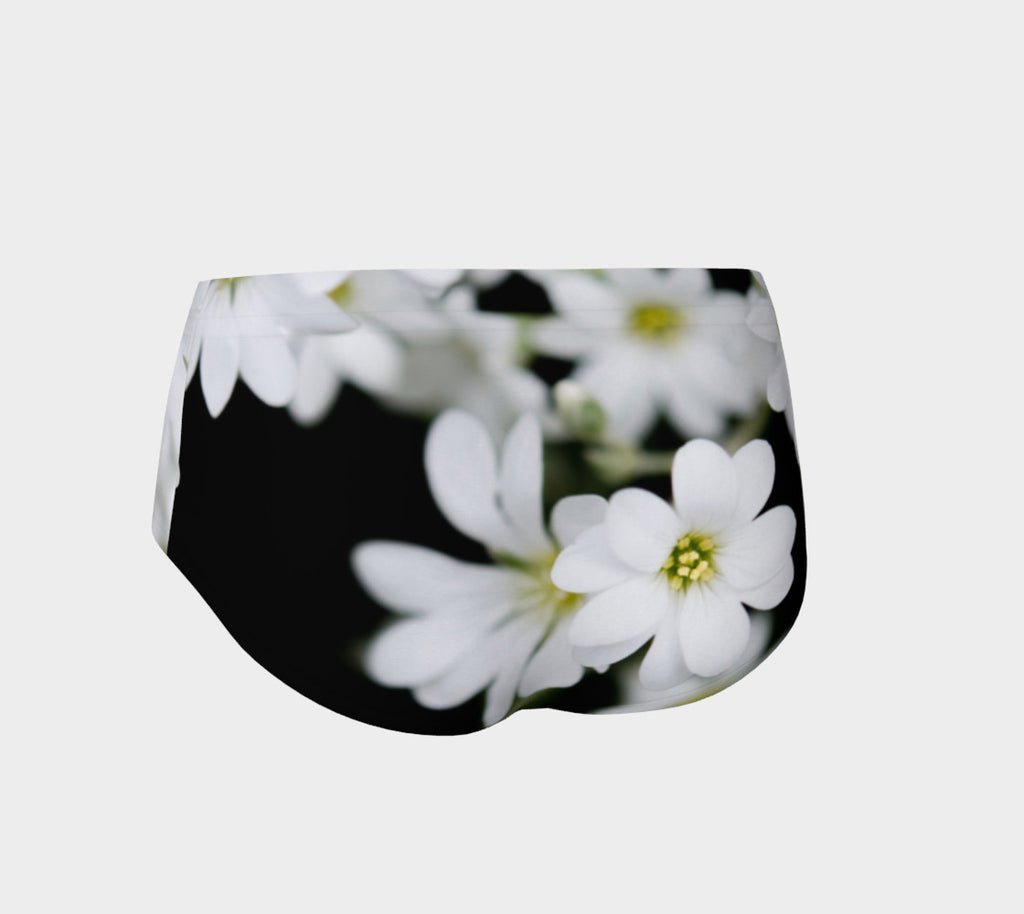 White Flower Booty Shorts - Iron Queen