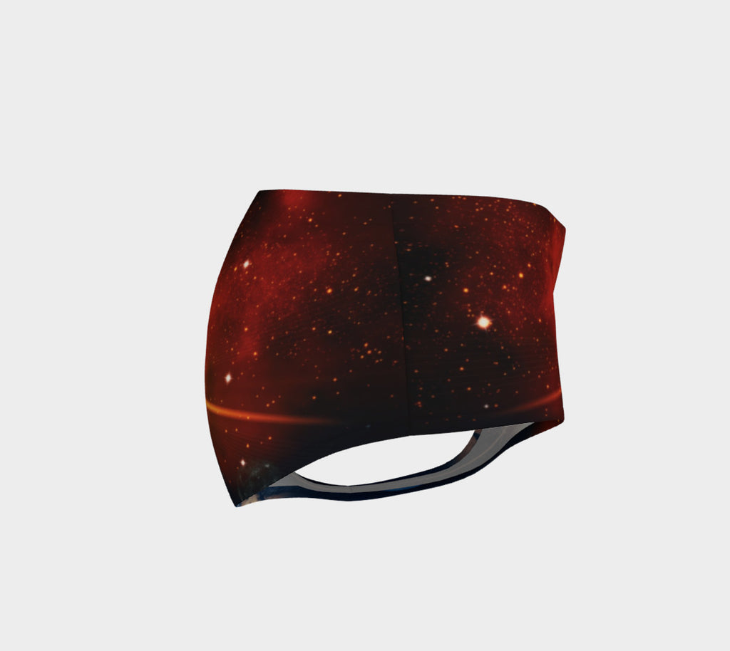 Galaxy Way Booty Shorts - Iron Queen