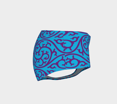 Blue Monogram Booty Shorts - Iron Queen