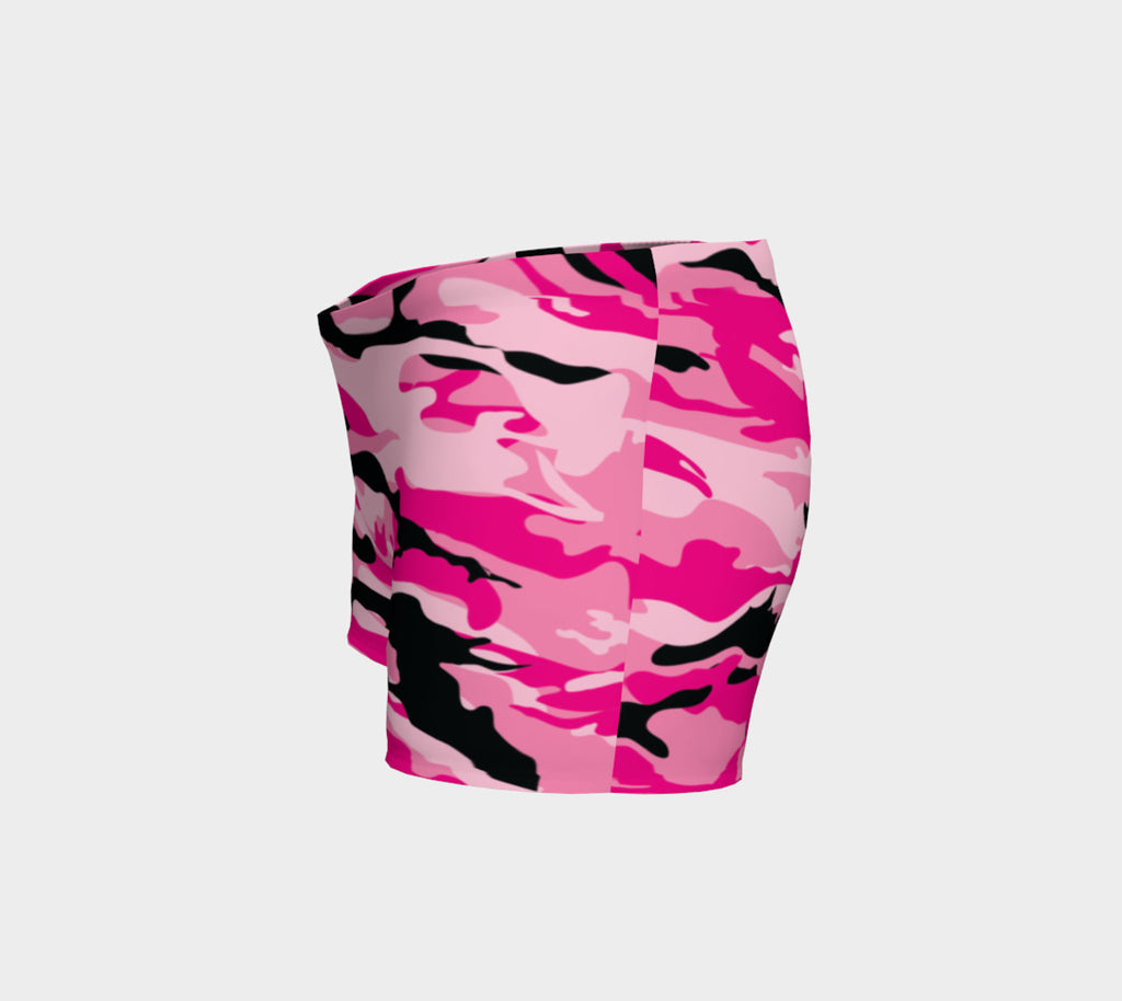 Pink Camo Athletic Shorts - Iron Queen