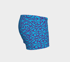 Blue Monogram Shorts - Iron Queen