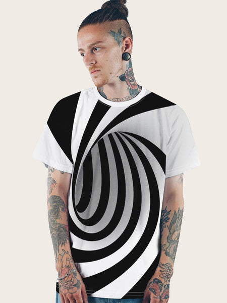 3D Spiral Print Tee | Limited Supply - Slangz TeeZ