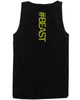 #Beast Neon Back Print Men's Work Out Tank Top Gym Sleeveless Beast Tanks - Slangz TeeZ