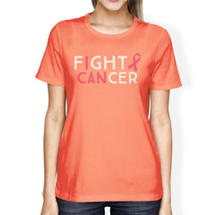 Fight Cancer I Can Womens Shirt - Slangz TeeZ