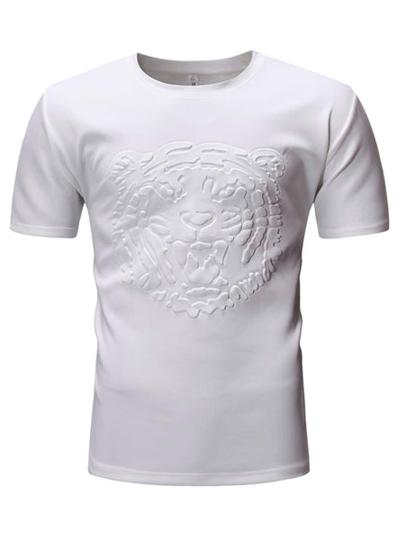 Men's Tiger Face Embossed Tee - Slangz TeeZ
