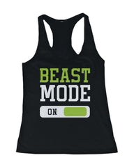 Beast Mode Women's Workout Tanktop Work Out Tank Top Fitness Gym Clothing - Slangz TeeZ