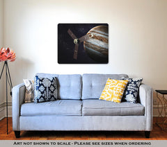 Metal Panel Print, Juno Spacecraft And Jupiter Elements Of This Image Furnished By Nasa - Slangz TeeZ