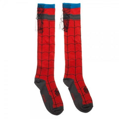 Spiderman Knee High Cape Socks - Slangz TeeZ