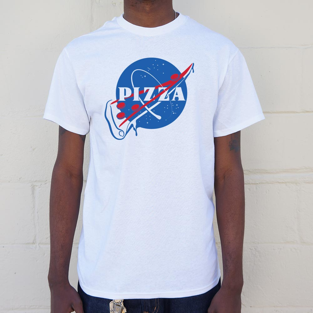 NASA Pizza Slice T-Shirt (Mens) - Slangz TeeZ