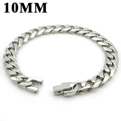 Cuban Links Stainless Steel Bracelet - Slangz TeeZ