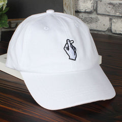 Gestures Finger Embroider Golf Baseball Cap Men Women Snapback Hats - Slangz TeeZ